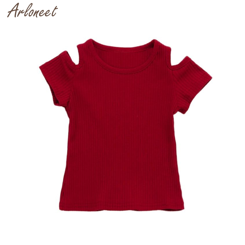 2018 Neonate Morbido Manica Corta Solido Morbido Toddler Bambini Top T-shirt Abbigliamento Mar15 Nuove Varietà Sono Introdotte Una Dopo L'Altra