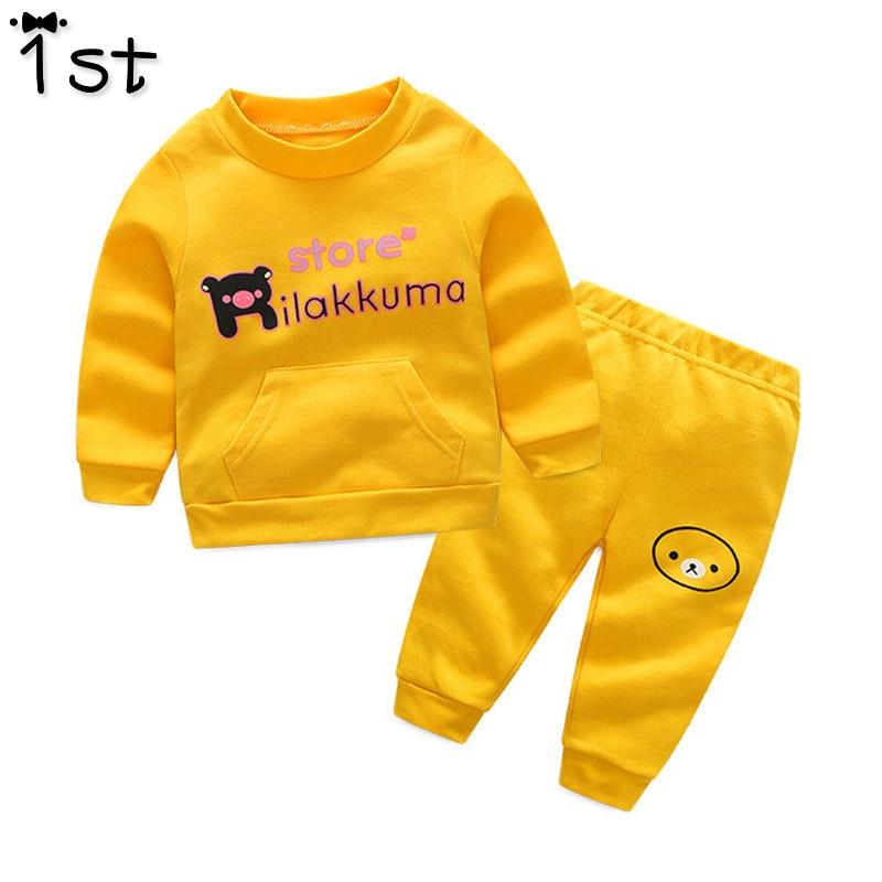 Pirmais bērnu apģērbu komplekts 2017 rudens jaunais O-kakla burts - Bērnu apģērbi