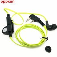 OPPXUN 8PCS Magic sound headset for green noodles for kenwood TK3107 3207 baofeng UV5R UV82 GT3 walkie talkie