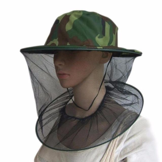 Nuovo Apicoltura Cappello Del Camuffamento Zanzara Ape Insetto Netto Cappello di