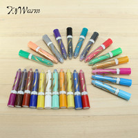 KiWarm 12 24 Colors Wax Crayon Pen With Gift Box Oil Painting Stick Pastel Crayons Pencils