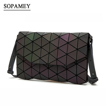 2018 Women Shoulder Bags Luminous Bao Evening Bag For Girl Hand bag Fashion Geometric Bao Casual Day Clutch Women Messenger Bags