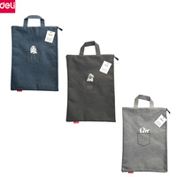 Deli 35pcs A4 File Folder Handbag Document Bag Cute Animal Fabric Folder Storage Bag Office School Supplies (3 Colors)