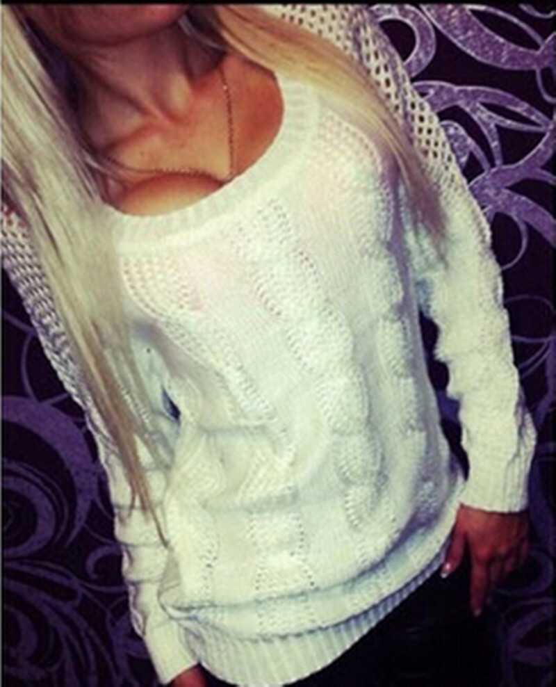Women Sweaters Nice Spring Autumn Knitting Sweater Sexy Hollow Out ...