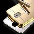 Luxury Metal Aluminum Frame + Mirror Acrylic Case Cover For Samsung Galaxy Note 3 N9000 Phone Accessories Battery Back Case