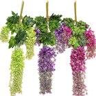 Weeding Decoration Artificial Flowers 1 Dozen Flower Hanging DIY Purple Red Green