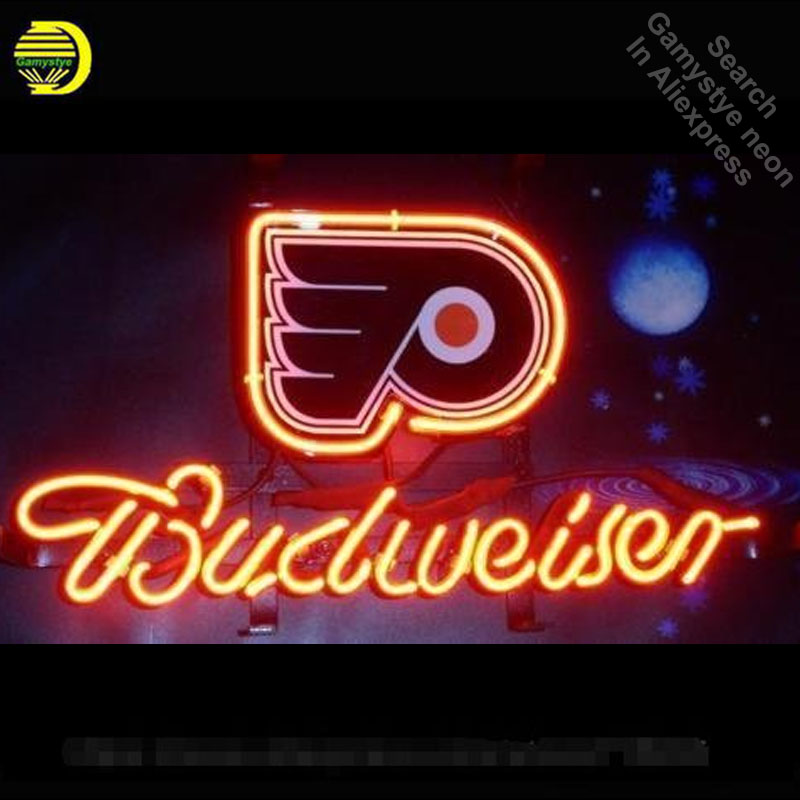 Neon Sign for Budweiser Sports Team PF neon bulb Sign Neon lights Sign Hotel glass Tube Iconic Bulbs Custom Brand LOGO Cerveja