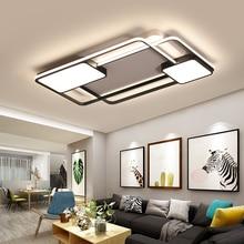 Новые креативные квадратные современные светодиодные потолочные лампы для гостиной спальни ресторана домашний закрытый алюминиевый светодиодный потолочный светильник AC90V-260V