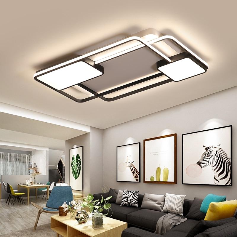 New creative square modern LED ceiling lights living room bedroom restaurant home indoor aluminum LED ceiling