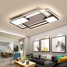 Новый креативный квадратный современный светодиодный потолочный светильник для гостиной, спальни, ресторана, дома, алюминиевая Светодиодная потолочная лампа, AC90V-260V