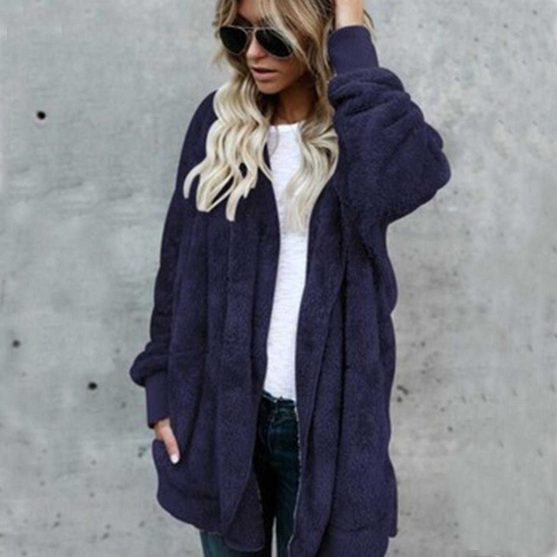 2  Jocoo Jolee Elegant Faux Fur Coat Women 2018 Autumn Winter Warm Soft  Zipper Fur Jacket Female Plush Overcoat Casual Outerwear-in Faux Fur from  Women s ... 5dd873b811d2