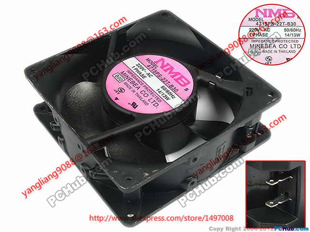 NMB-MAT 4715PS-22T-B30, B00 AC 220V 14W 120x120x38mm Server Square fan free shipping nmb cooling fan 3610ps 22t b30 220v instrumentation axial 92 92 25mm page 1
