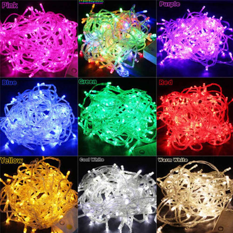 10M 100LEDs LED String Light AC220V AC110V 9 Colors Festoon lamps Waterproof Outdoor Garland Party Holiday Christmas Decoration