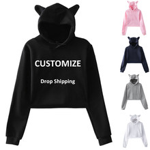 Drop Schiff Frauen Sexy Crop Top Hoodies Customized Print Harajuku Kpop Beiläufige Hoodies Sweatshirts Plus Größe Bangtan Boys Top Y6(China)