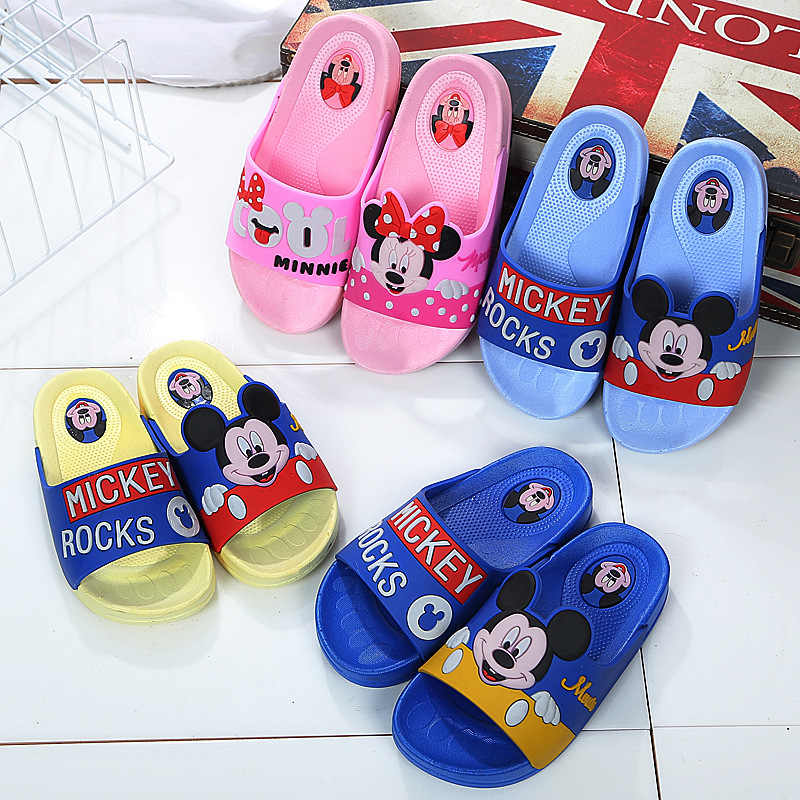 Little Kids Slippers Girls Boys flip flop Toddler Baby Slippers Big Children Cartoon Mickey Design Indoor Garden Shoes