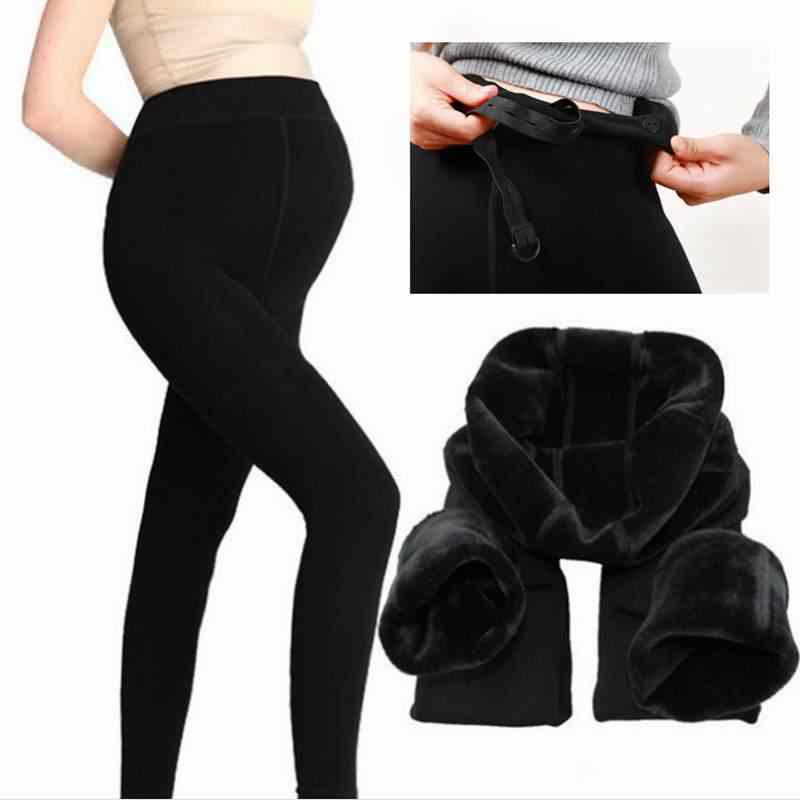Large Size Maternity Winter Warm Leggings Pregnancy Thick High Waist Pants For Pregnant Women Soft Velvet Clothing Trousers