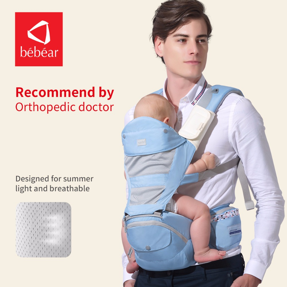 Bebear hipseat for prevent o type leg aerospace aluminum core Ergonomic baby carriers manduca backpacks save