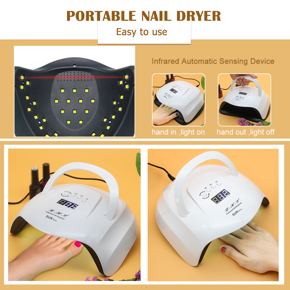 Image 2 - LKE New Nail Dryer SUNX plus UV lamp  Dual Power Nail Dryer Portable Nail Manicure 42pcs LEDs For All Gel Polish Nail Dryers-in Nail Dryers from Beauty & Health