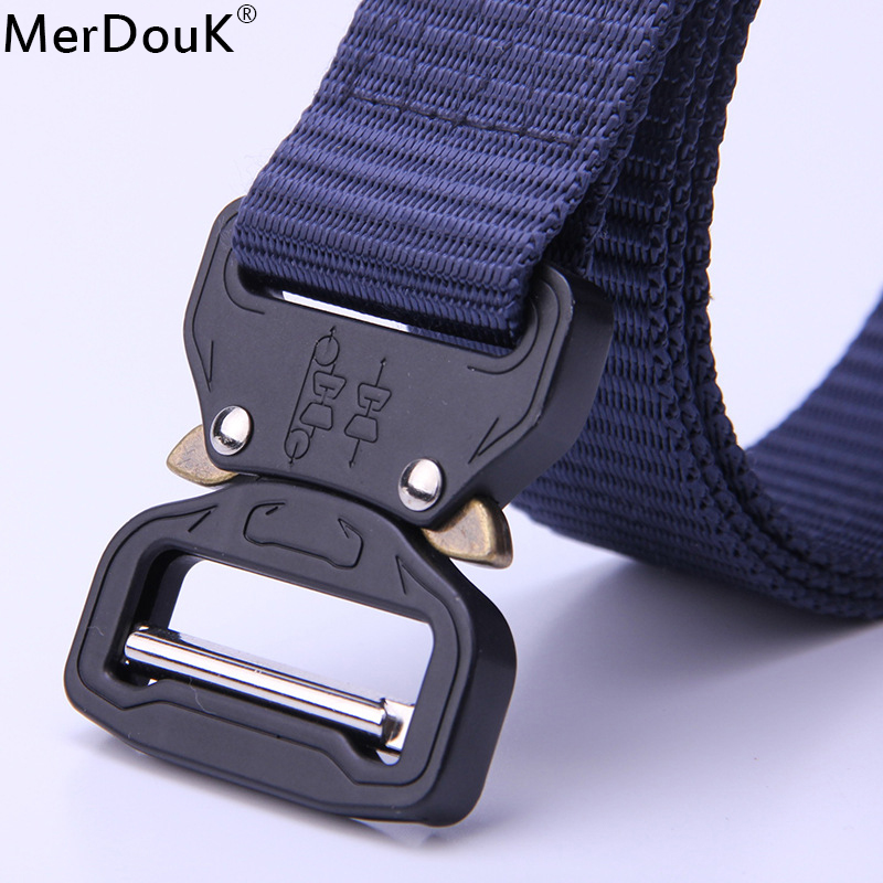 Nylon Belt Men Army Tactical Belt Molle Military SWAT Combat Belts Knock Off Emergency Survival Waist Tactical Gear Dropship