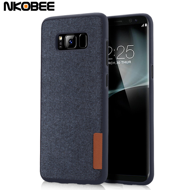 new product 17f29 7292a US $4.74 |NKOBEE For Samsung S8 Case Silicon Cotton Fabric TPU Case For  Samsung S8 S8 Plus Mobile Phone Cover Cases For Samsung Galaxy S8-in Fitted  ...