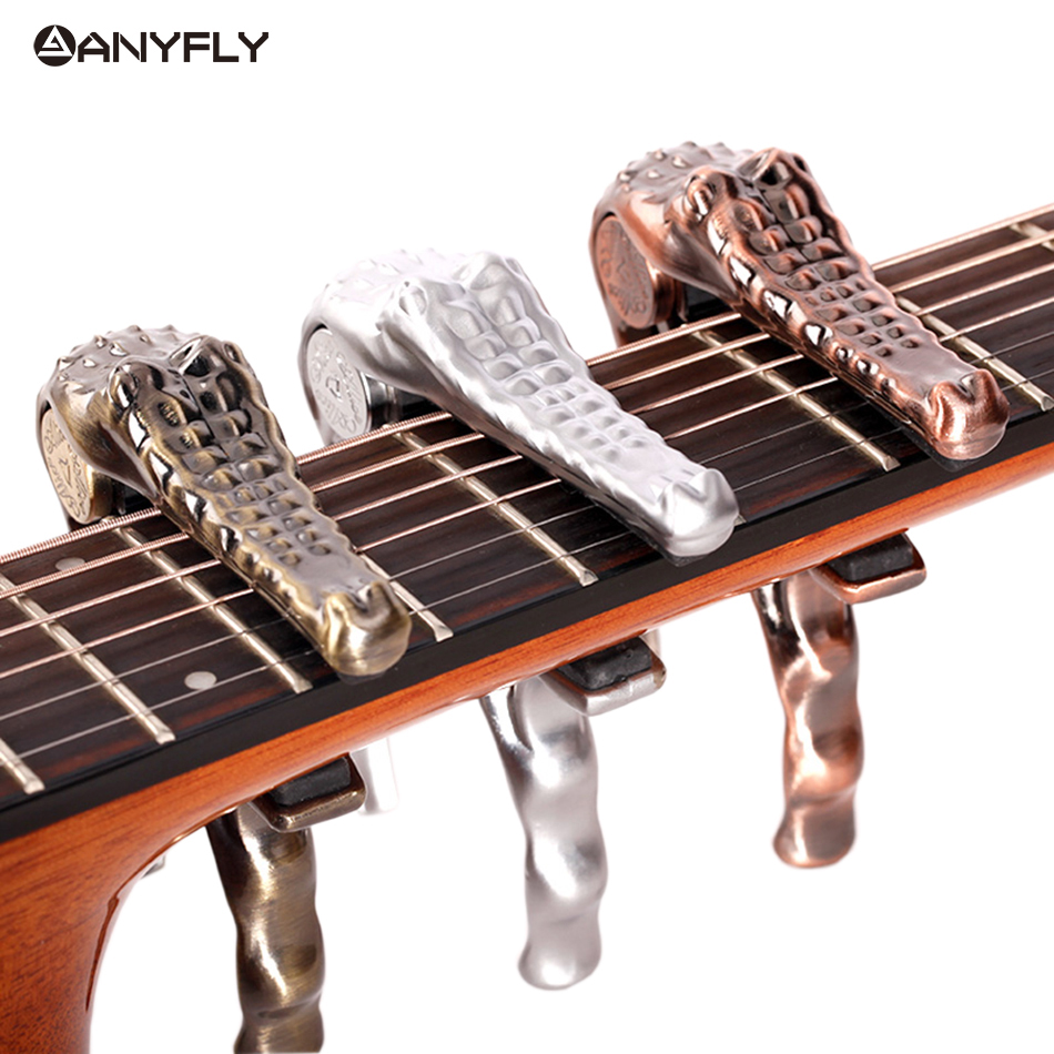 Free Shipping Professional Alice A007G Metal Crocodile Folk Acoustic Guitar Capo Clamp Wholesales guitar rolling capo greg bennett design glider capo slides up