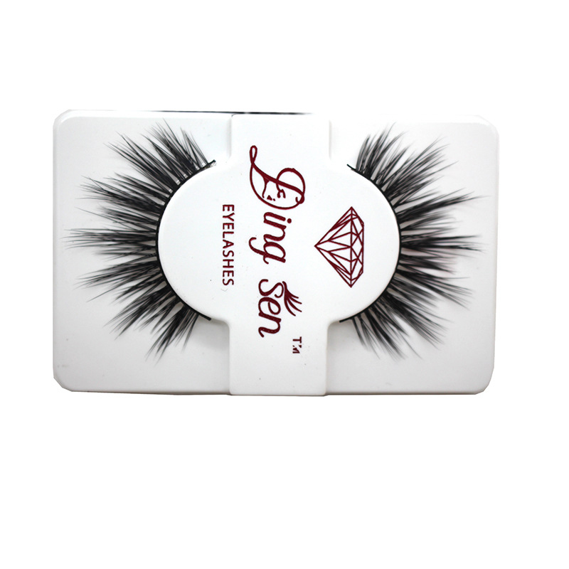 1Pair Natural False Eye Lashes 3D Mink Lashes Long Eyelashes Extension Fake Mink Eyelashes Cosmetic Makeup Tool Cilios Maquiagem