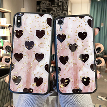 Luxury Bling Glitter Cute Love Heart Phone Case For iPhone X XS MAX XR Case Soft Silicone Back Cover for iPhone 8 7 6 6S Plus
