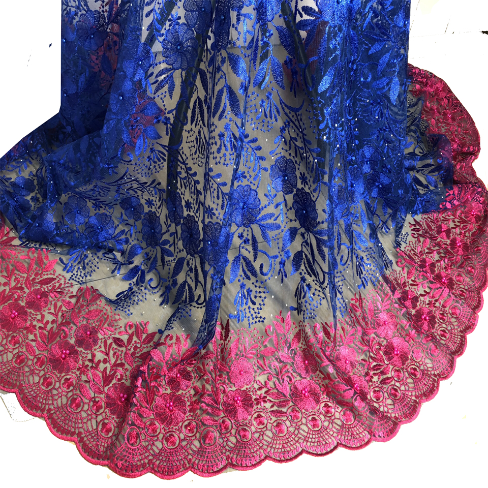 Последние Французский в нигерийском стиле шнуровка ткани Высокое качество Тюль в африканском стиле шнуровка ткани Свадебные африканские ф...