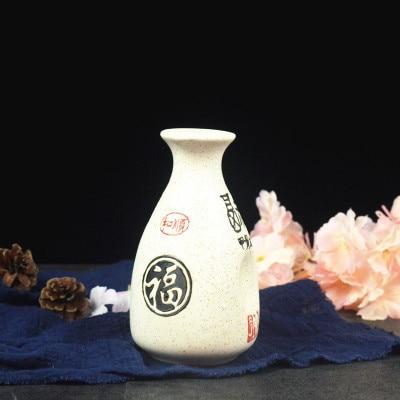 Японский ликер горшок Ретро керамика теплые емкость для ликера дистрибьютор бытовой маленькие белые вина флакон китайский barware Сакура - Цвет: 16
