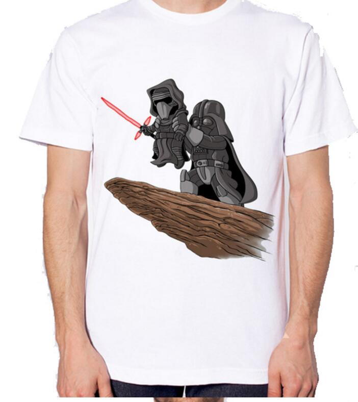 Custom processing star wars king T Shirt Mens High Quality Tops Tees Custom male t-shirt ...