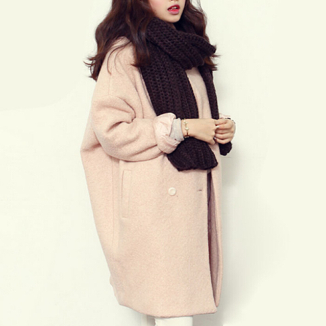 Winter Fashion Medium Length High quality Super Warm Woollen Coat
