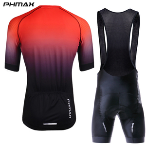 Image 2 - PHMAX Pro Cycling Clothing Men Cycling Set Bike Clothes Breathable Anti UV Bicycle Wear Short Sleeve Cycling Jersey Set For Mans