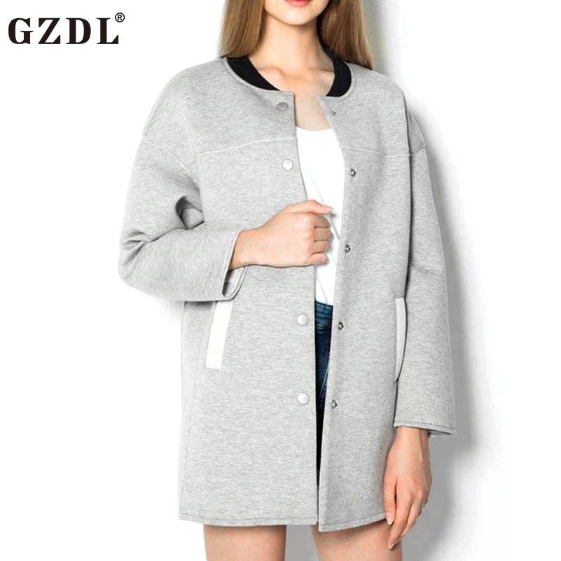 f8da99272f6 GZDL Mode de Femmes Automne Hiver Manteau À Manches Longues Bouton Poches  Veste Bref Femmes Animal Imprimé Dos Outwear Manteaux CL3283