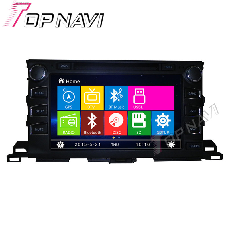 WANUSUAL 9 Car DVD GPS For Toyota Highlander 2015 Car font b Radio b font Multimedia