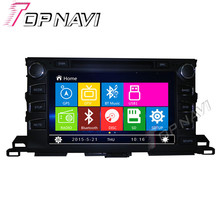 """WANUSUAL 9 """"Coche DVD GPS Para Toyota Highlander 2015-Car Multimedia Radio Audio Estéreo En El Tablero, la Mueca de Dolor sistema"""