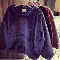 Осень 2015 новых европейских и американских мода широкий большой размер толщиной волосатые пальто, Пушистый чучела кофты