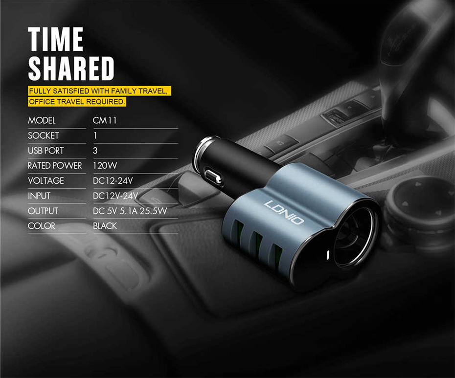 LDNIO Car charger with cigratte socket (11)