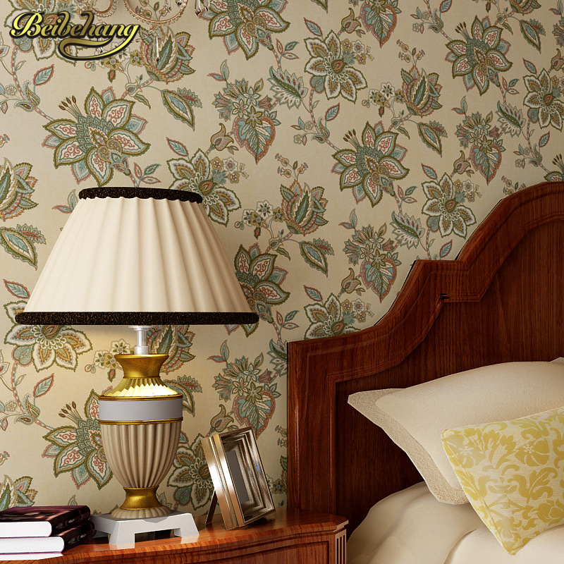 купить beibehang American country quaint flower garden bedroom wallpaper for living room TV wall mural wallpaper roll papel de parede по цене 2449.25 рублей