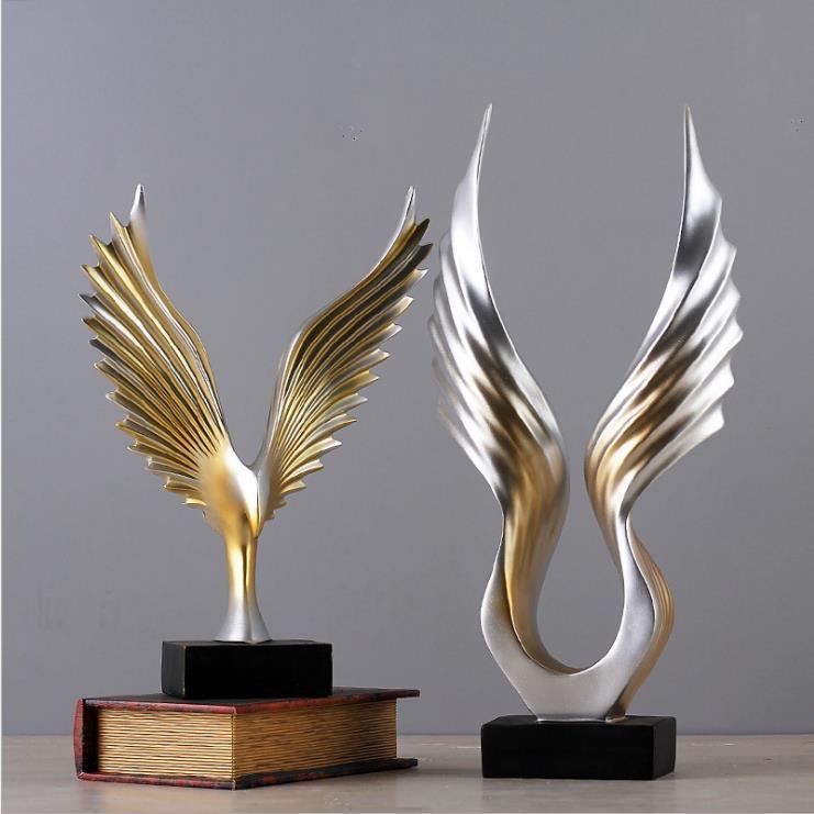 2017 chine Feng Shui résine de bon augure prospérité commerciale Mirs ailes sculpture/Dapeng aigle Hawk Statue/décorations pour la maison