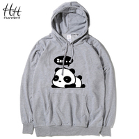HanHent Panda Black Fashion Hoodies Men Cotton Casual Gym Long Cheap Sweatshirts Men Hood Bape Novelty