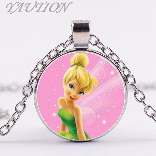 Tinker bell 3color pendant cute tinkerbell necklace chain pendant tinker bell 3color pendant cute tinkerbell necklace chain pendant necklace gift accessories for child aloadofball Gallery