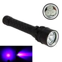 חדש מתחת למים 100 M 3x XPE הסגול UV LED אור מנורת אור צלילה פנס לפיד צלילה