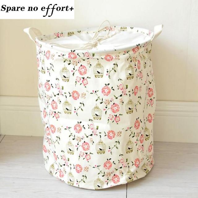 Foldable Laundry Basket Dirty Clothes Storage Basket Baby Toys