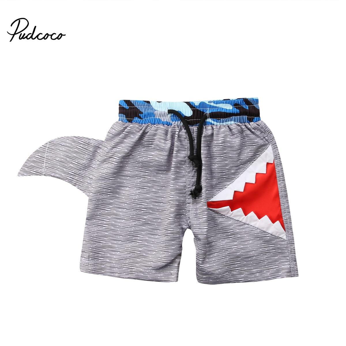 Shorts Jungen Kleidung KüHn Pudcoco Kinder Jungen Shorts Cartoon Shark Hohe Taille Beachwear Shorts 0-7 Jahre Helen115
