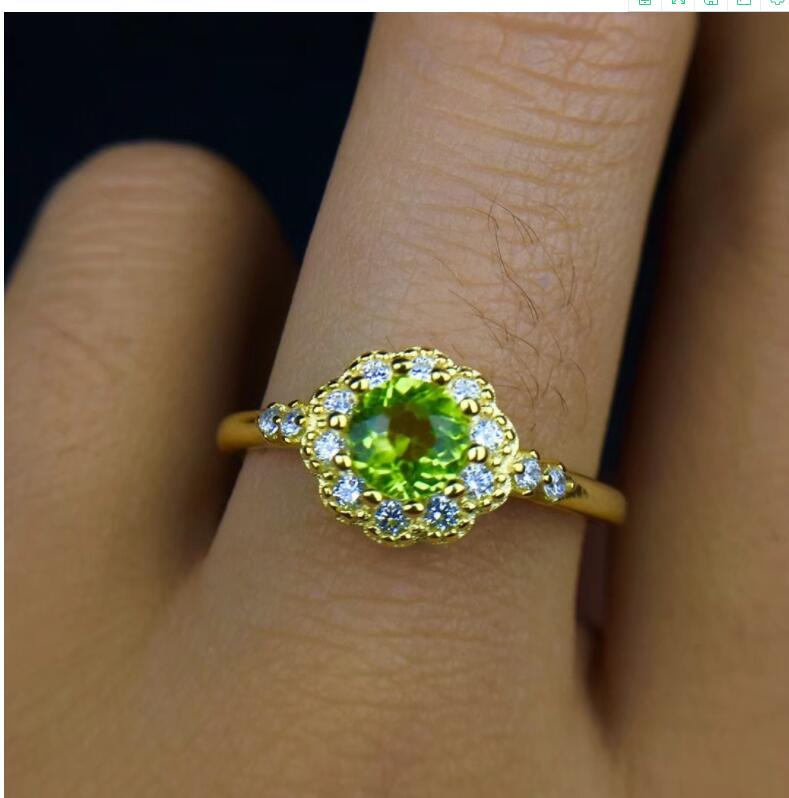 Peridot ring Free shipping Natural real peridot 925 sterling silver Fine jewelry 5mm gemstone Handworked rings цена