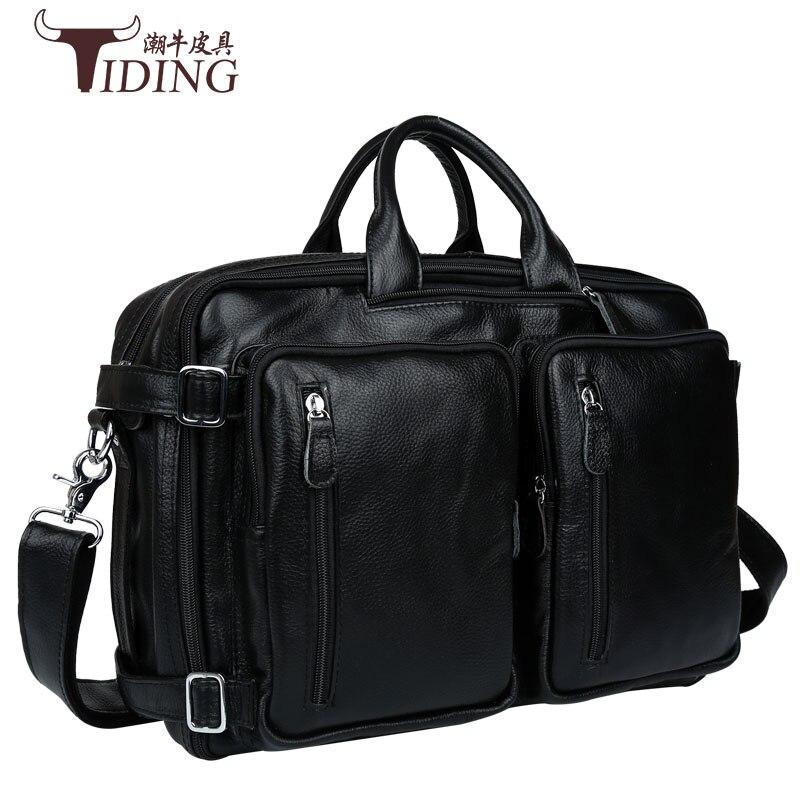 Genuine Leather Men Messenger Bags Business Leather Laptop Bag Men Bag Men's Briefcase Tote Travel Shoulder Laptop Bag