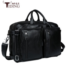 Genuine leather men messenger bags business Leather laptop bag mens briefcase Tote travel shoulder