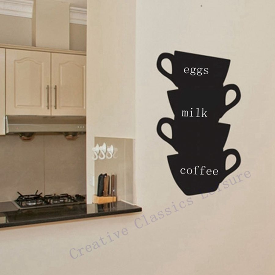 Trasporto libero adesivi murali cucina tazze di caffè home decor cucina lavagna lavagna vinyl wall art.jpg