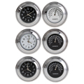 """Waterproof Alloy Motorcycle Clock Watch + Thermometer Motorcycle Handlebar Mount Clock Instrument for 7/8"""" 22mm Motorbike"""