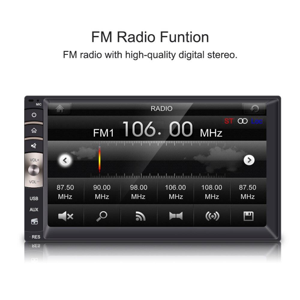 Car Radio MP5 Player w/ Rear View Camera Car Radio Audio Player 7 inch Universal 2 Din Bluetooth USB/TF FM Aux Input n74u portable media player speaker magaphone w tf usb fm microphone black